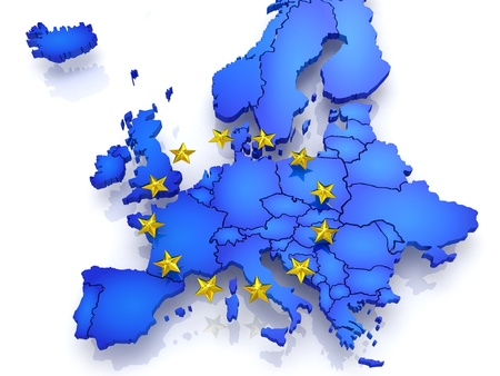 three-dimensional map of Europe. 3d Stock Photo - 21746069