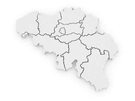 belgium: Three-dimensional map of Belgium. 3d