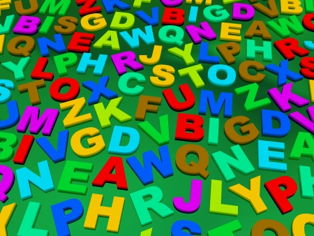 letters of the English alphabet. background photo