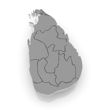 srilanka: Map of Sri Lanka. 3d Stock Photo