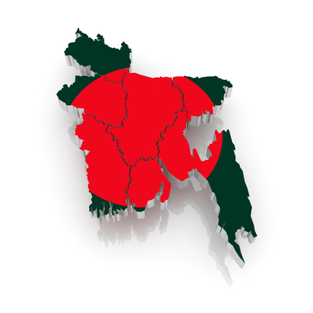 bangladesh 3d: Map of Bangladesh. 3d