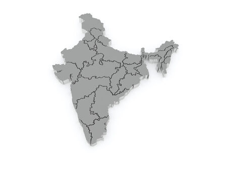 india 3d: Map of India. 3d