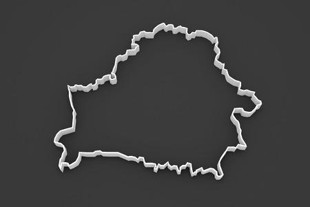 belarus: Three-dimensional map of Belarus. 3d