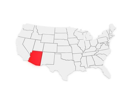Arizona Region Cliparts Stock Vector And Royalty Free Arizona - Arizona on us map