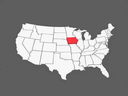 Iowa Border Cliparts Stock Vector And Royalty Free Iowa - Iowa on us map