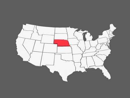 Nebraska Region Stock Illustrations Cliparts And Royalty Free - Nebraska on us map