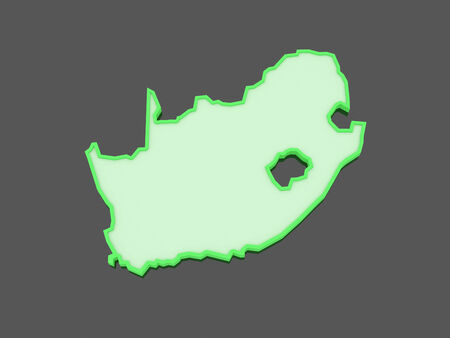 rsa: Map of Republic of South Africa (RSA). 3d