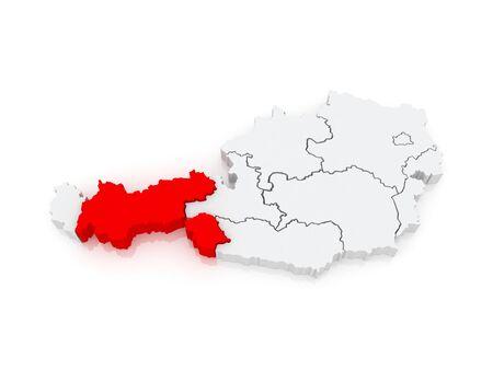 tyrol: Map of Tyrol. Austria. 3d