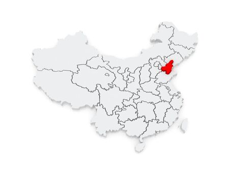 Map of Tianjin. China. 3d photo