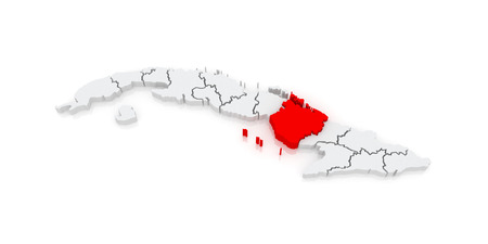 Map Of Camaguey Cuba 3d Stock Photo Picture And Royalty Free