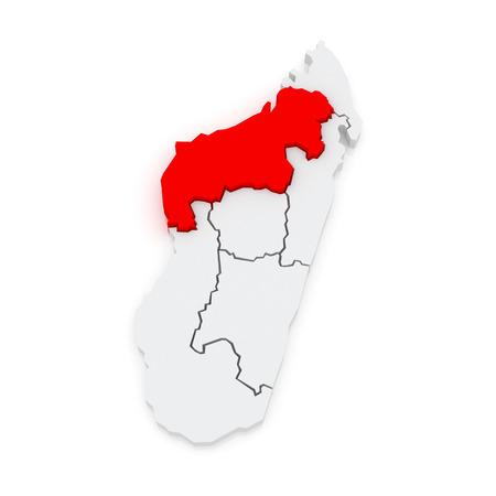 Map of Mahajanga. Madagascar. 3d Фото со стока