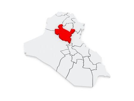 din: Map of Salah al-Din. Iraq. 3d