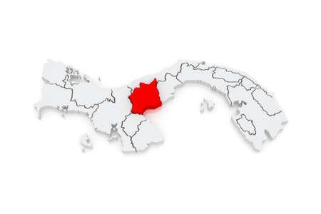 panama: Map of Cocle. Panama. 3d
