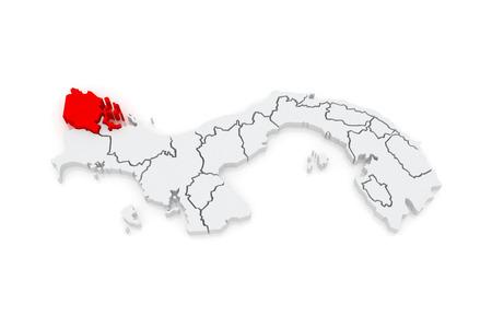 panama: Map of Bocas del Toro. Panama. 3d