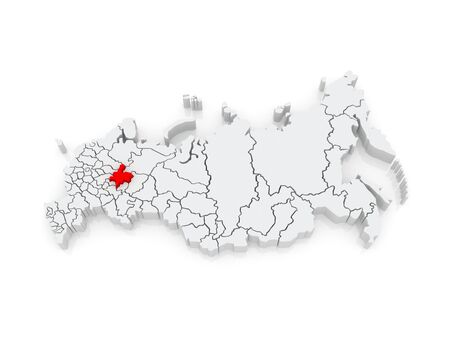 kirov: Map of the Russian Federation. Kirov region. 3d
