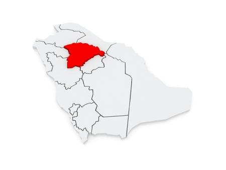 hail: Map of Hail. Saudi Arabia. 3d