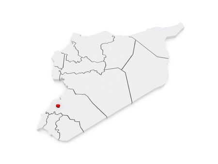 Map Of Damascus. Syria. 3d Stock Photo, Picture And Royalty Free ...