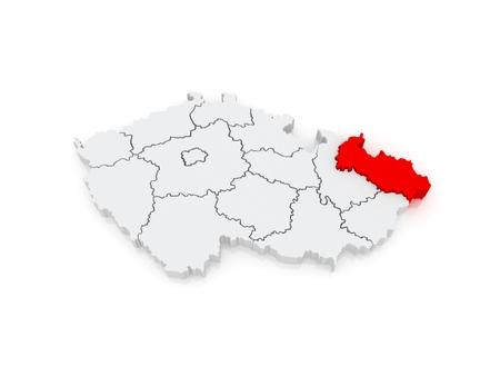 Map of Moravian. Czech Republic. 3d photo