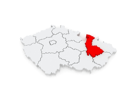 olomouc: Map of Olomouc. Czech Republic. 3d