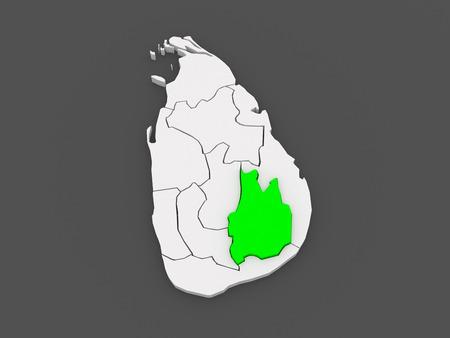 srilanka: Map of Uva. Sri Lanka. 3d