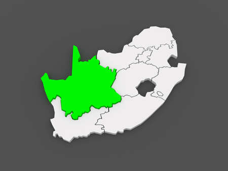 northern cape: Map of Northern Cape (Kimberley). South Africa. 3d