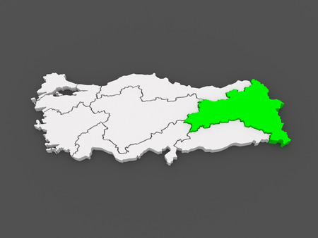 anatolia: Map of Eastern Anatolia. Turkey. 3d