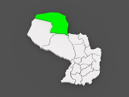alto: Map of Alto Paraguay. Paraguay. 3d