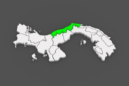 colon panama: Map of Colon. Panama. 3d