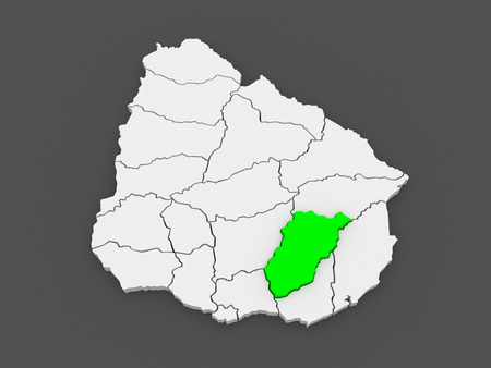 Map of Lavaleha. Uruguay. 3d