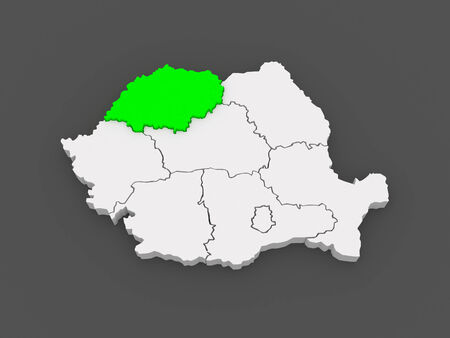 northwestern: Map of Northwestern Development of Romania. 3d