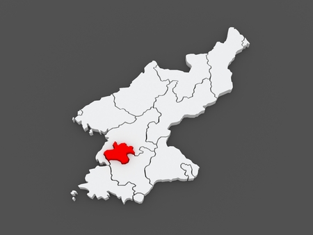 pyongyang: Map of Pyongyang Chikhalsi. North Korea. 3d