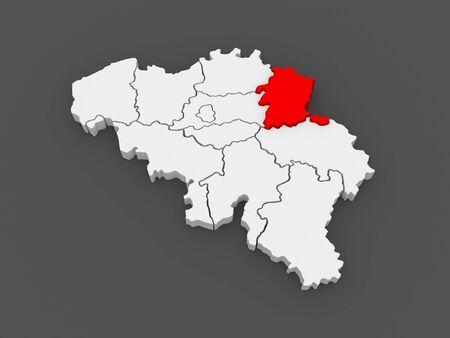 limburg: Map of Limburg. Belgium. 3d