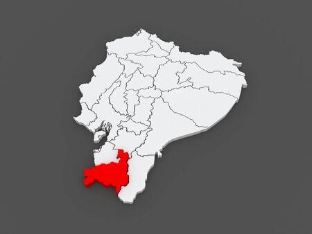 loja: Map of Loja. Ecuador. 3d