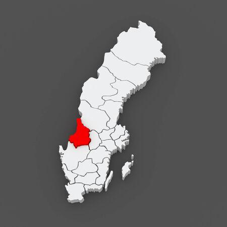 karlstad: Map of Karlstad. Sweden. 3d Stock Photo