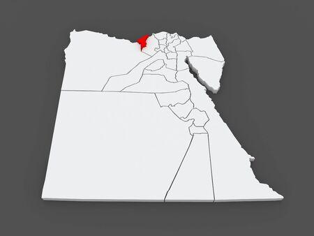 alexandria egypt: Map of Alexandria. Egypt. 3d