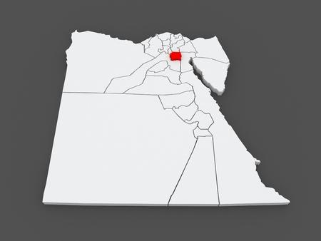 cairo: Map of Cairo. Egypt. 3d