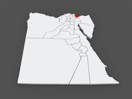 said: Map of Port Said. Egypt. 3d Stock Photo
