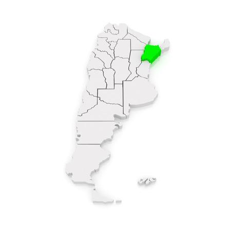 corrientes: Map of Corrientes. Argentina. 3d