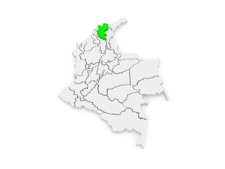 magdalena: Map of Magdalena. Colombia. 3d