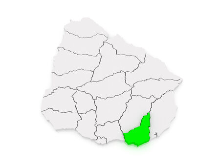 Map of Maldonado. Uruguay. 3d