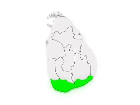 srilanka: Map of South. Sri Lanka. 3d