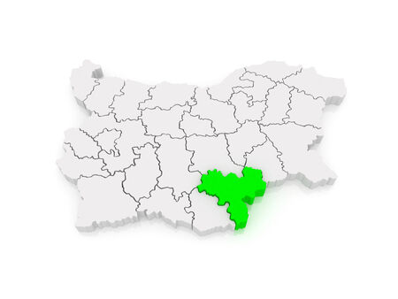 Map of Haskovo Province. Bulgaria. 3d