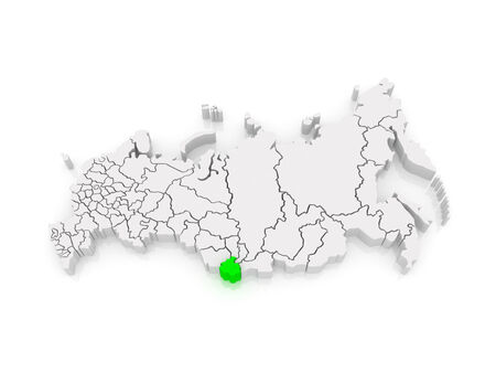 altai: Map of the Russian Federation. Altai Republic. 3d