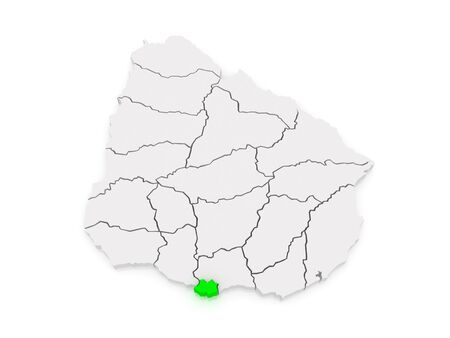 montevideo: Map of Montevideo. Uruguay. 3d Stock Photo