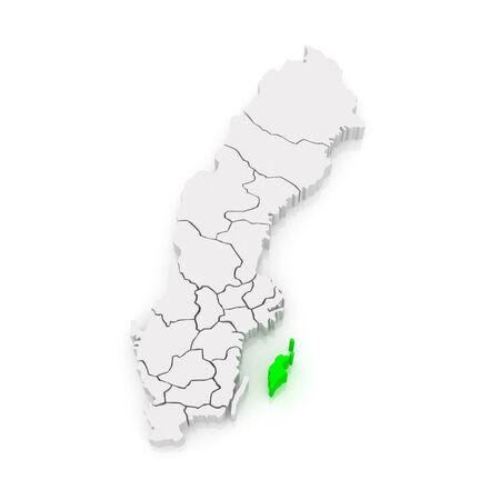 Map of Gotland. Sweden. 3d