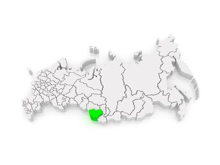 federation: Map of the Russian Federation. Altai Krai. 3d