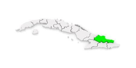 holguin: Map of Holguin. Cuba. 3d