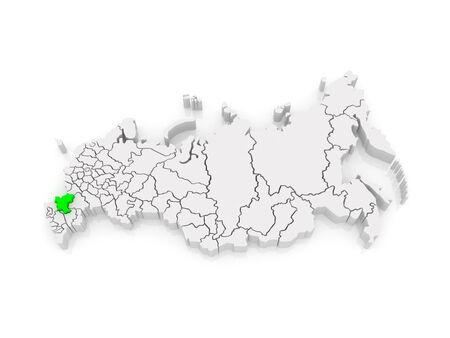 federation: Map of the Russian Federation. Rostov Region. 3d