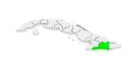 santiago: Map of Santiago de Cuba. Cuba. 3d Stock Photo
