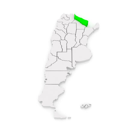 formosa: Map of Formosa. Argentina. 3d Stock Photo
